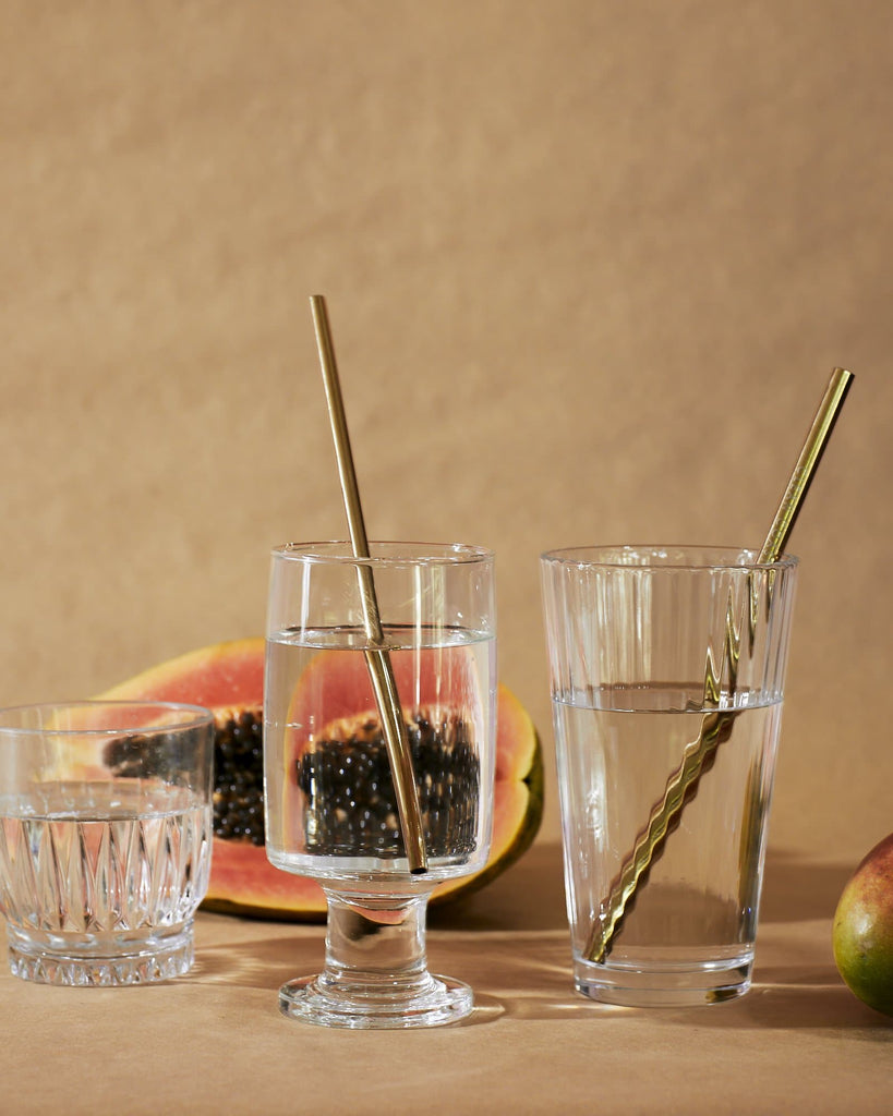 Metal Straws & Pouch - Black - A_C Official