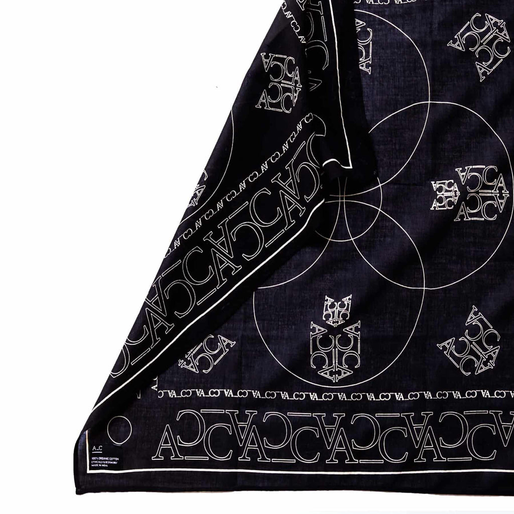 A_C Organic Cotton Scarf - Black -  - Scarf Bandana A_C Official