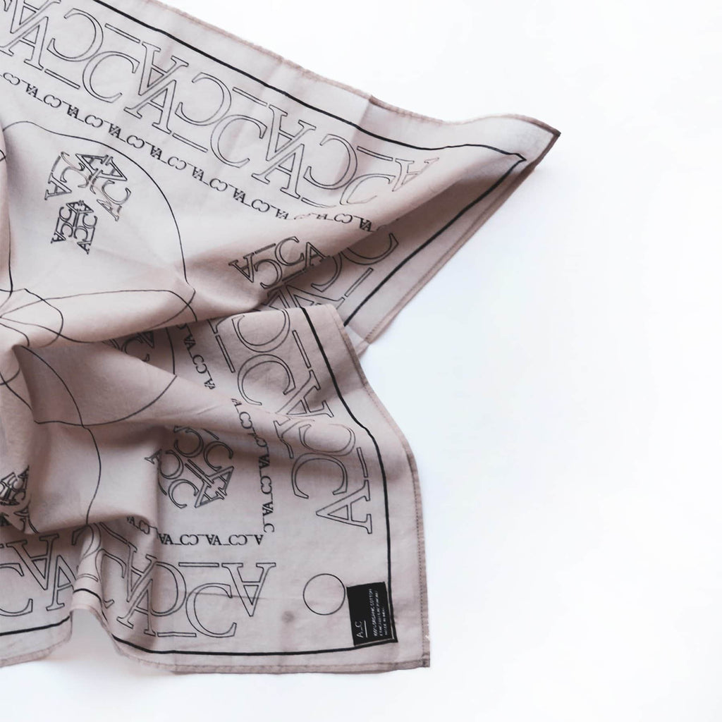 A_C Organic Cotton Scarf - Natural -  - Scarf Bandana A_C Official