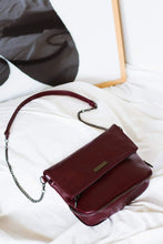 Load image into Gallery viewer, Ziplock Foldover Crossbody Bag - Maroon