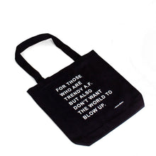 Load image into Gallery viewer, Trendy A.F Tote Bag - Black