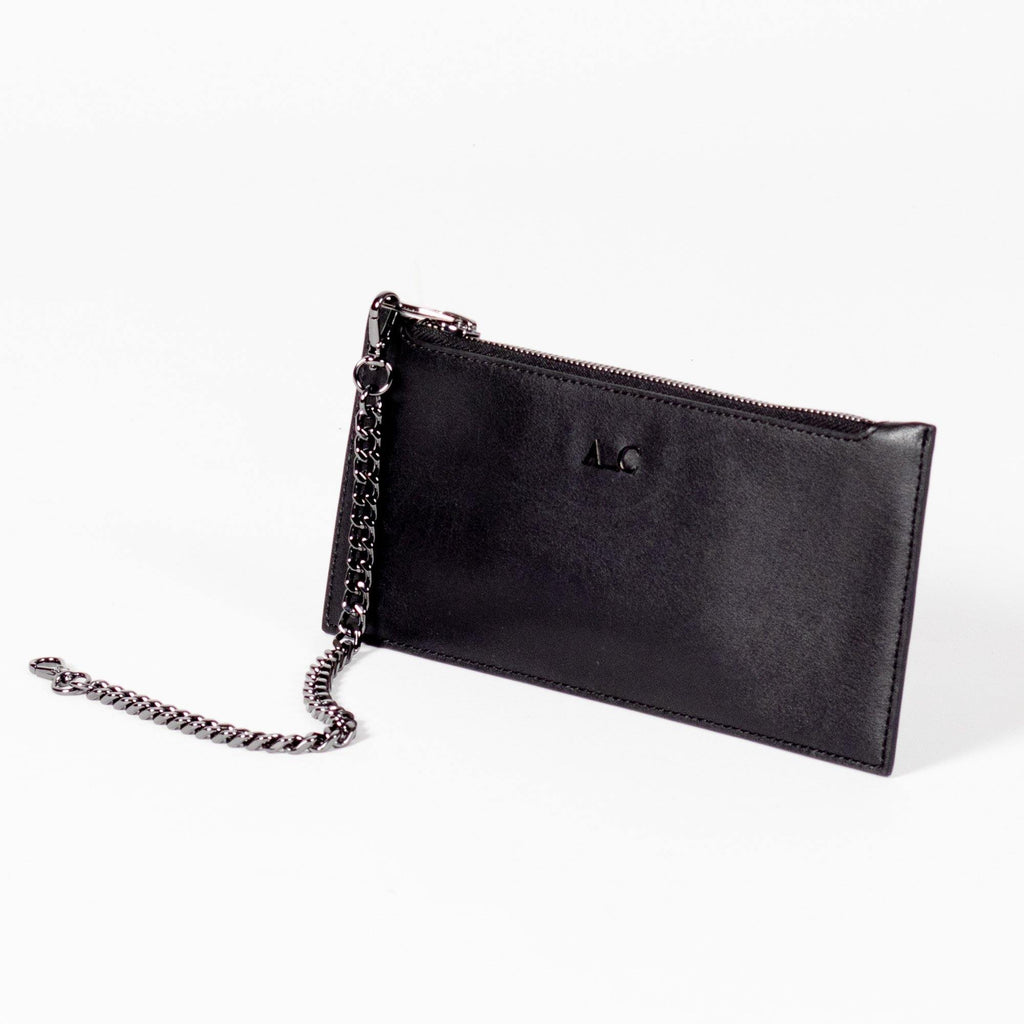 Heidi Slimline Wallet - Cactus Leather Black