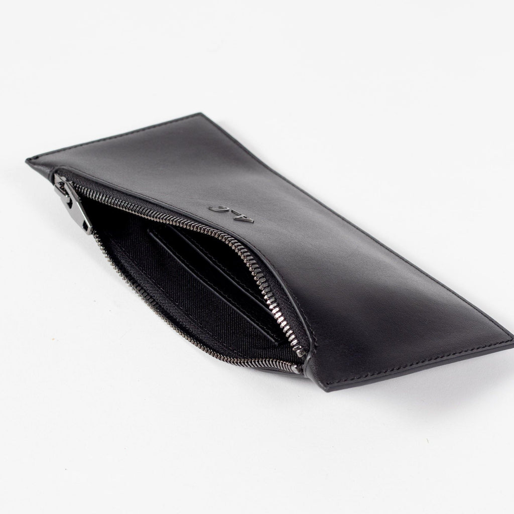 Heidi Slimline Wallet - Cactus Leather Black - A_C Official