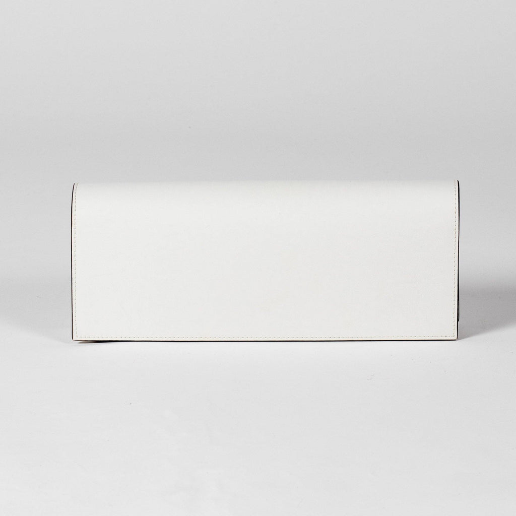 Monica Pencil Clutch - Cactus Leather White