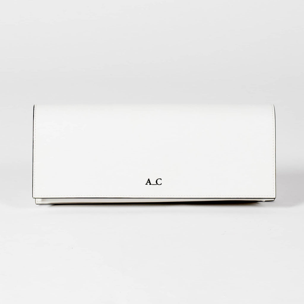 Monica Pencil Clutch - Cactus Leather White - A_C Official