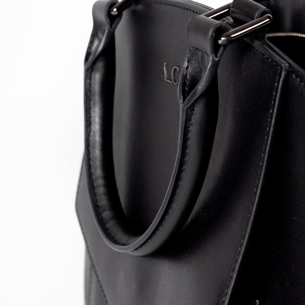 Tote Modern II - Cactus Leather Black - A_C Official
