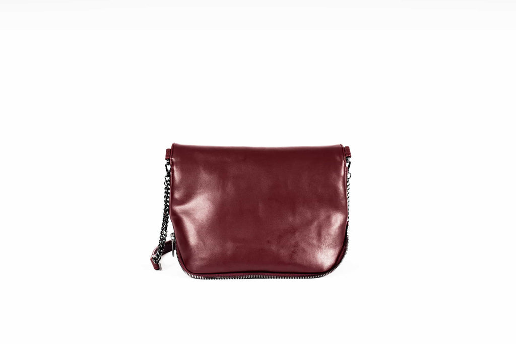 Ziplock Foldover Crossbody Bag - Maroon - A_C Official