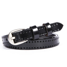 COWATHER Cow Leather Women Pin Buckle Belt