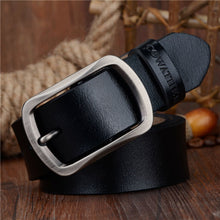 COWATHER Cow Leather Men's Pin Buckle Belt