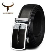COWATHER Cow Leather Men's Automatic Buckle Belt