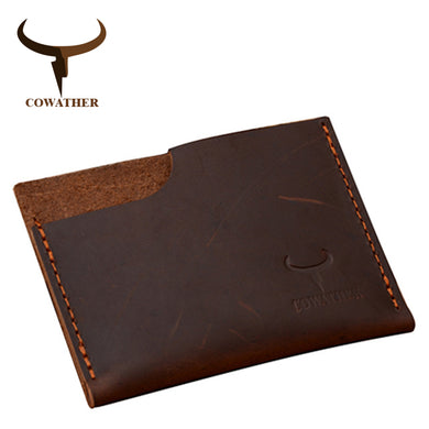 COWATHER Cow Genuine Card ID Holder Wallet