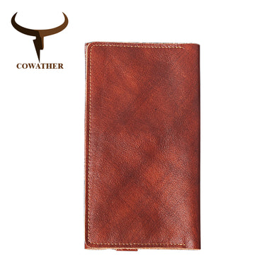 COWATHER Cow Leather Multifunctional Men's Wallet