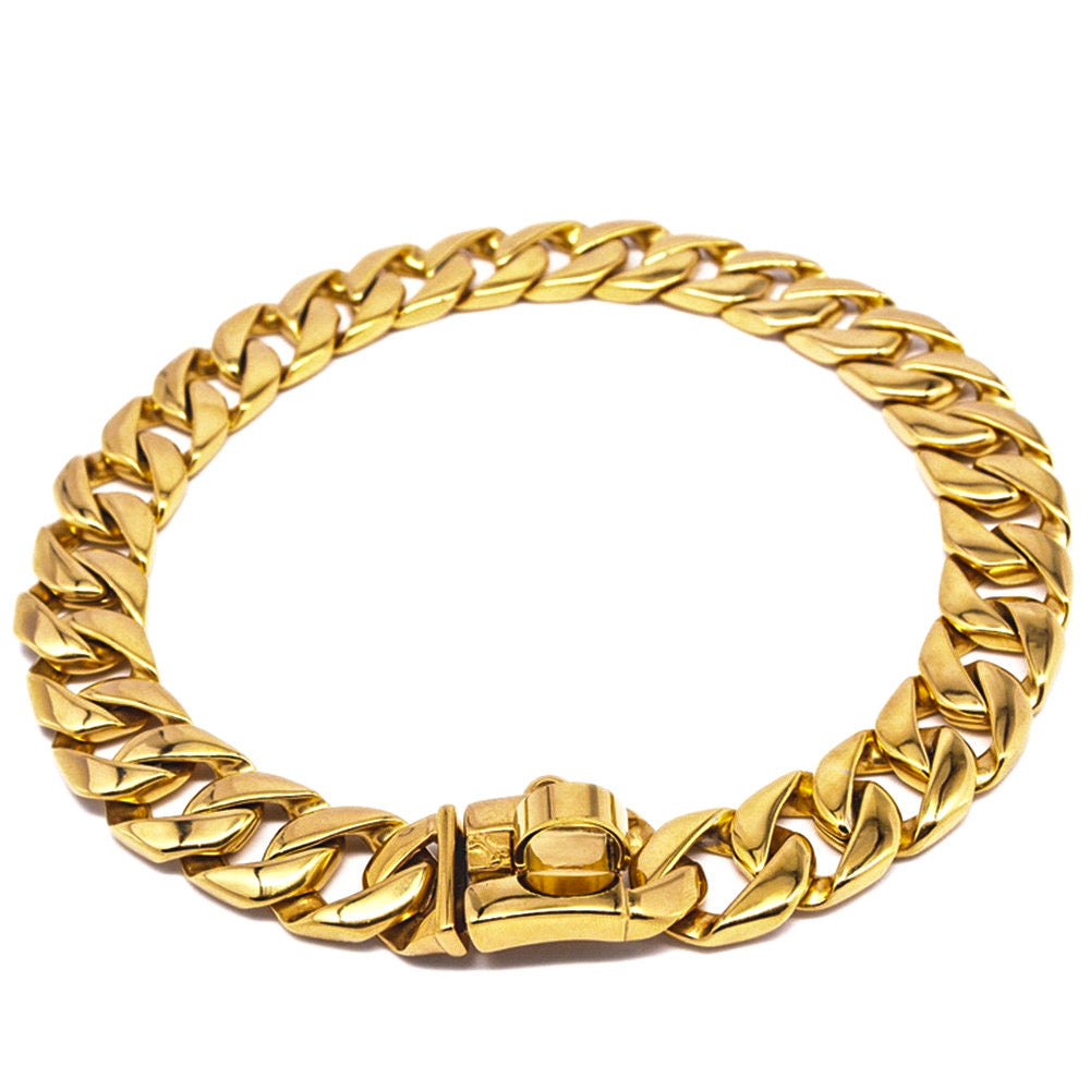 Cuban Link Gold Chain Collar