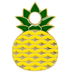 pineapple green yellow gold enamel pet tag | trill paws