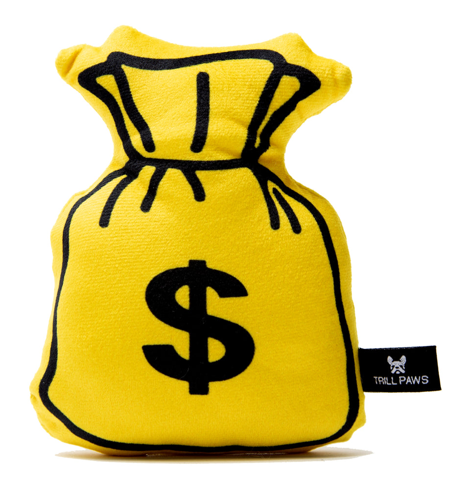 Money Bag Plush Toy yellow and black | Trill Paws