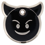 Lil' Devil black and silver enamel pet ID tag | Trill Paws