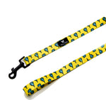 Diamond Drip yellow and light blue leash with black hook | TRILL PAWS