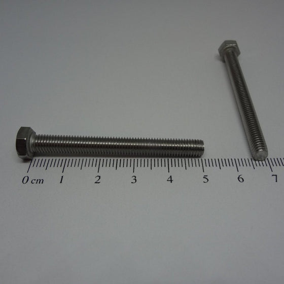 Hex Bolt, Full Thread, Stainless Steel, M5x50mm-Canada Bolts