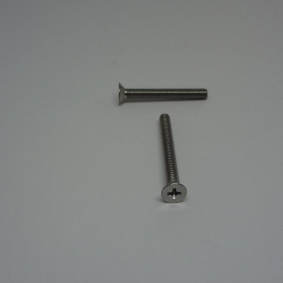 Machine Screws, Phillips Flat Head, Stainless Steel, M3x25mm