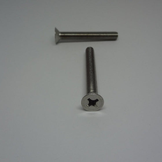 Machine Screws, Phillips Flat Head, Stainless Steel, M6x45mm