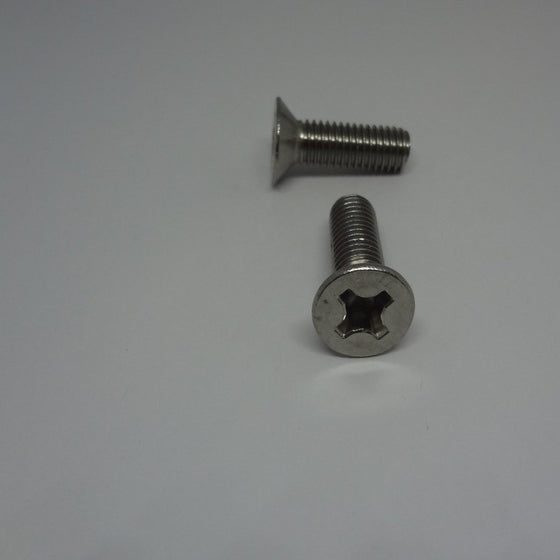 Machine Screws, Phillips Flat Head, Stainless Steel, M8x25mm-Canada Bolts