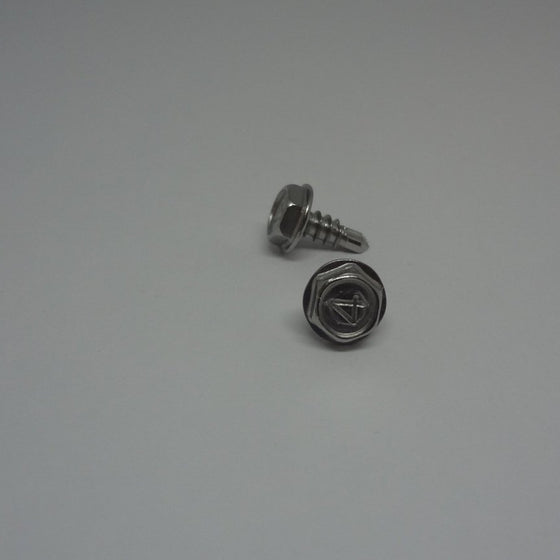 "Sheet Metal Screws, Hex Washer Head Self drilling, Stainless Steel, #6x3/8""-Canada Bolts"