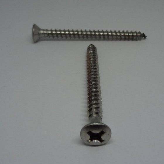 "Sheet Metal Screws, Phillips Oval Head, Stainless Steel, #12x2 1/2""-Canada Bolts"
