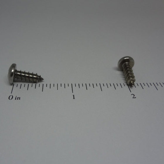 "Sheet Metal Screws, Phillips Pan Head, Stainless Steel, #8x1/2""-Canada Bolts"