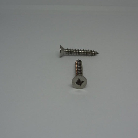 "Sheet Metal Screws, Square Drive Flat Head, Stainless Steel, #8x1""-Canada Bolts"