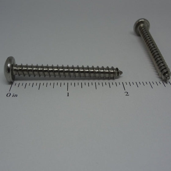 "Sheet Metal Screws, Square Drive Pan Head, Stainless Steel, #12x2""-Canada Bolts"