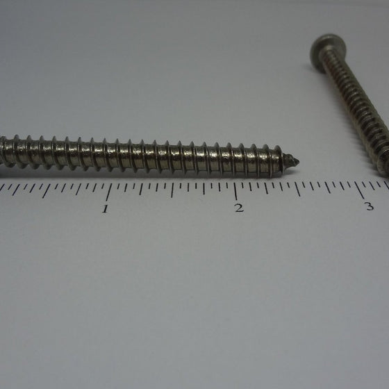 "Sheet Metal Screws, Square Drive Pan Head, Stainless Steel, #14x2 1/2""-Canada Bolts"