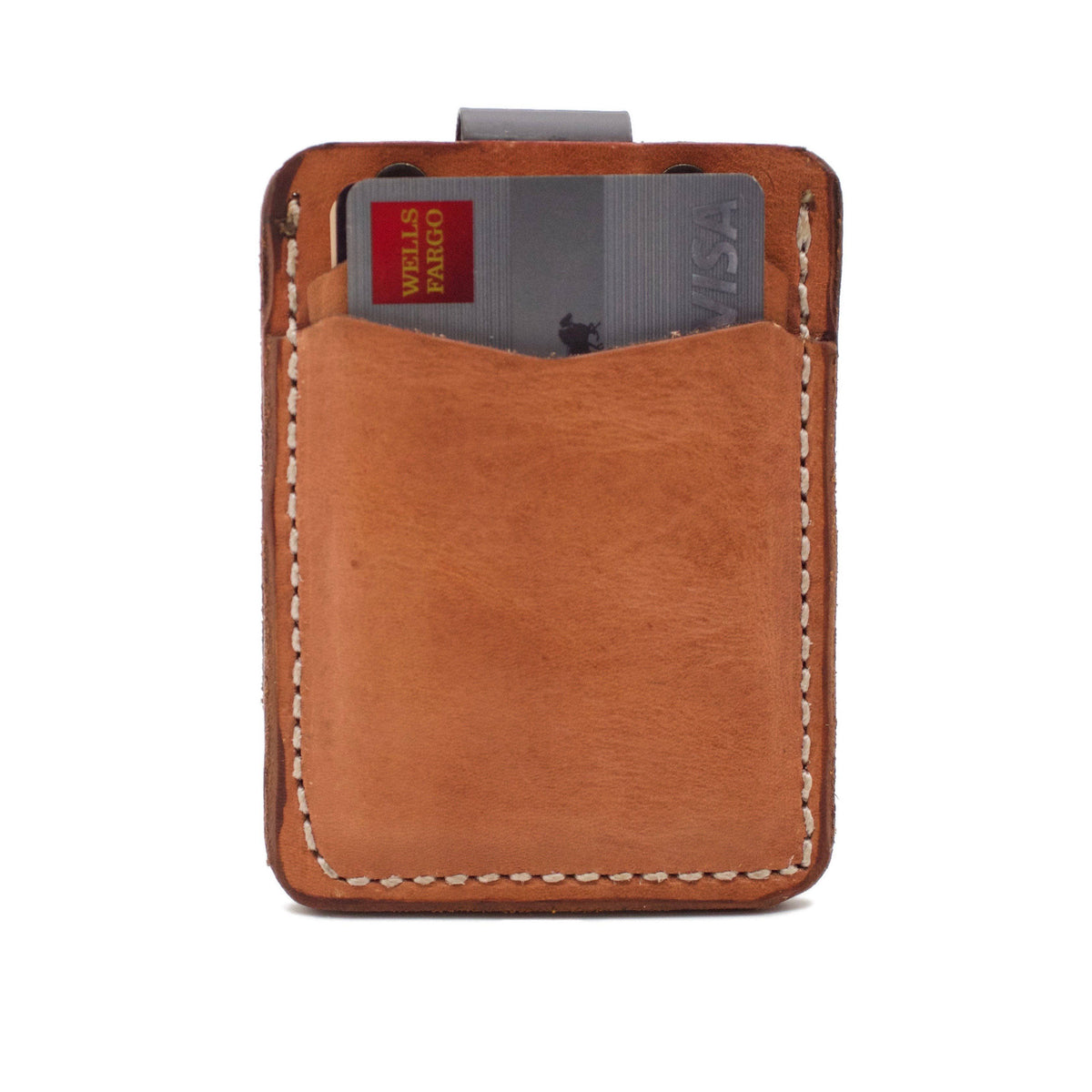 The OAK CREEK HD400 Minimalist Wallet in Natural Harness featuring Hermann Oak®