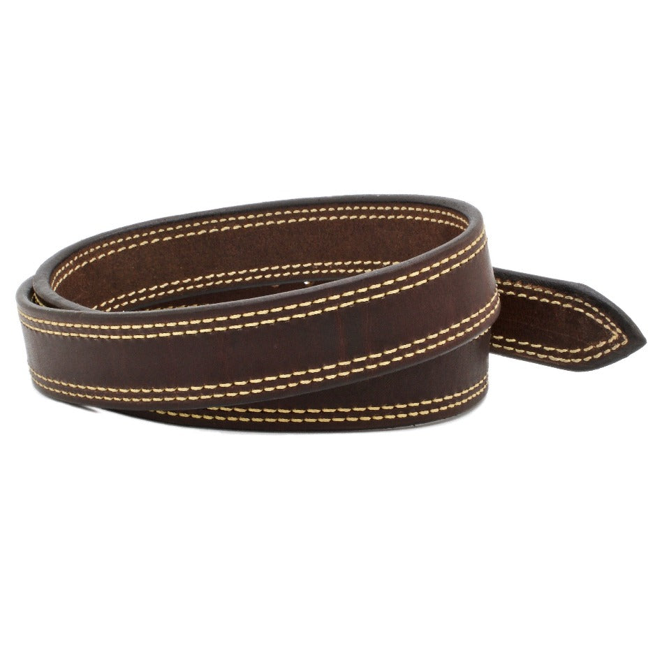Front Side of Howitzer Leather Gun Belt with Kevlar® Thread and Solid Brass buckle