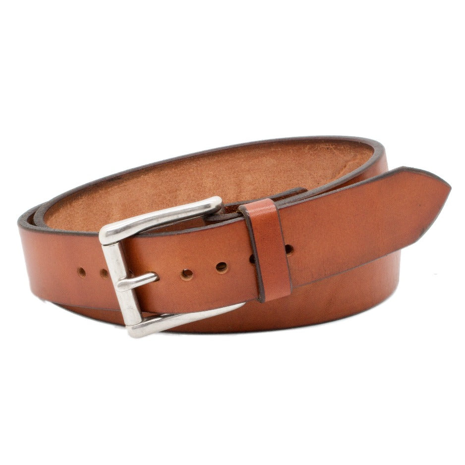 Front Side of Classic Sedona Mens Leather Belt with Stainless Steel buckle