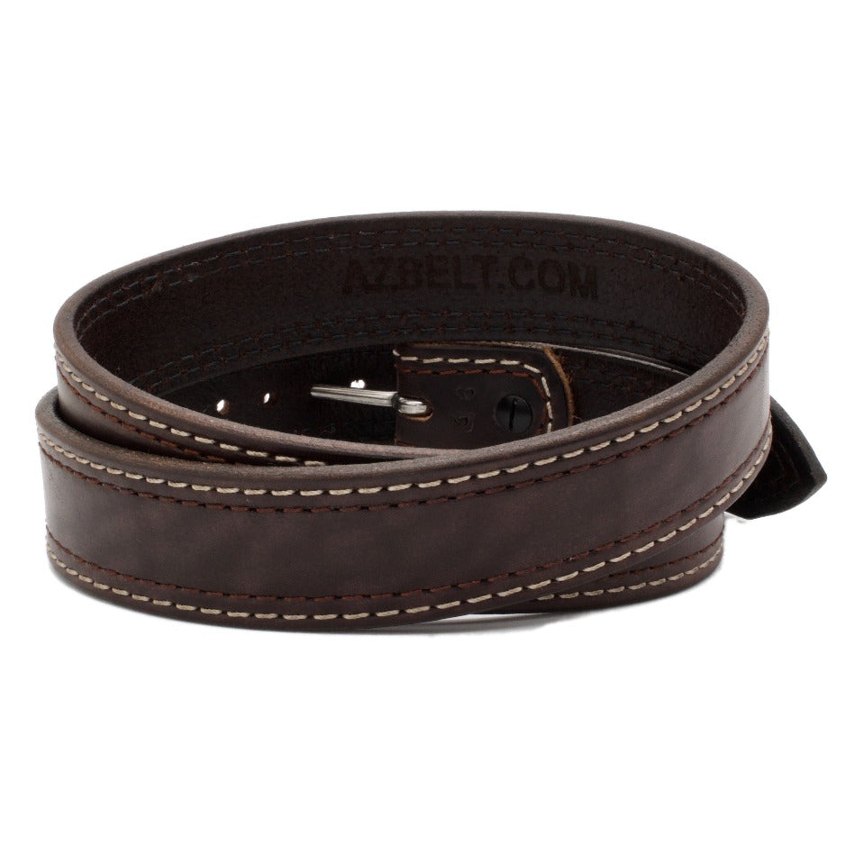 Back Side of Lexington Mens Brown Leather Belt