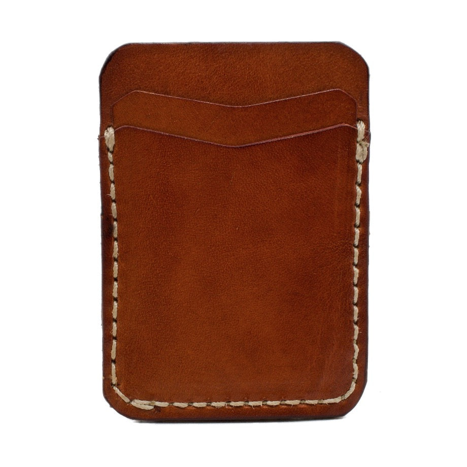 The Weatherford Saddle Leather Stick On Phone Wallet with Extra 3M® adhesive sheet