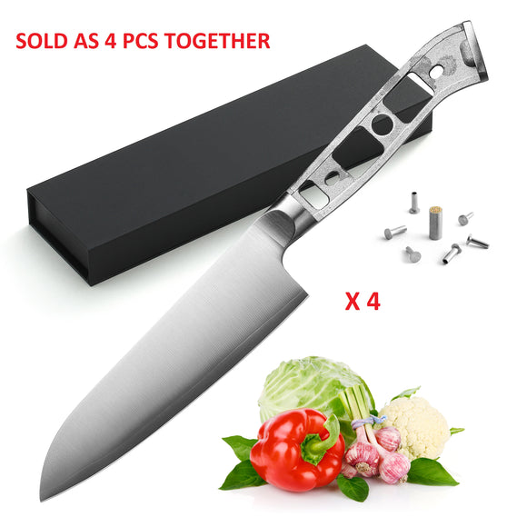 AUS-10 3 Layers Forged 5-in Small Santoku Blank [NO LOGO]-4PCS
