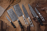 AUS-10 Damascus 8-in Bread Knife Blank [Logo or No Logo]