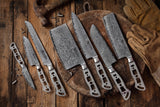 AUS-10 Damascus 8-in Gyuto Chef Knife Blank [Logo or No Logo]