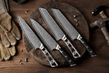 AUS-10 Damascus 8-in Kiritsuke Chef Knife Blank Blade, Thunder-X Series, Extra wide Blade 50mm [No Logo] - KATSURA Cutlery