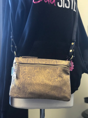 Papaya! Paisley Gold Crossbody