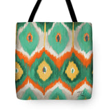 Tropical Ikat II Tote Bag