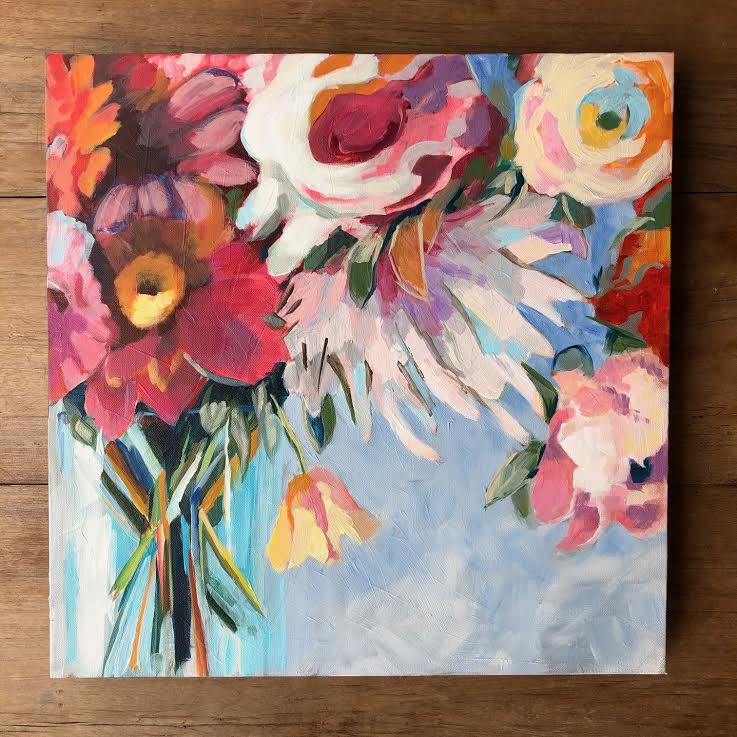 "MIXED BOUQUET 20"" x 20"""