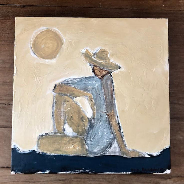 "WOMAN BY THE SEA 12"" X 12"""