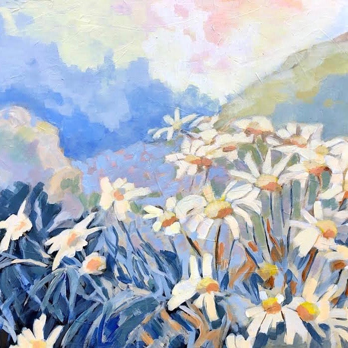 "COASTAL WILDFLOWERS 38"" x 24"""