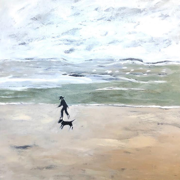 "COAST WALK BY GREEN SEA 48"" X 48"""