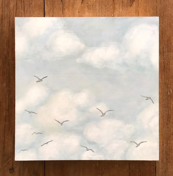 "ABOVE THE CLOUDS 12"" x 12"""
