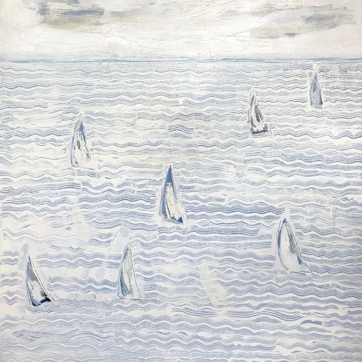 "WHITE SEA SAILS 48"" X 48"""