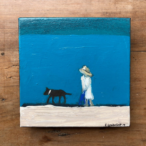 "WALK BY TURQUOISE SEA 10"" X 10"""