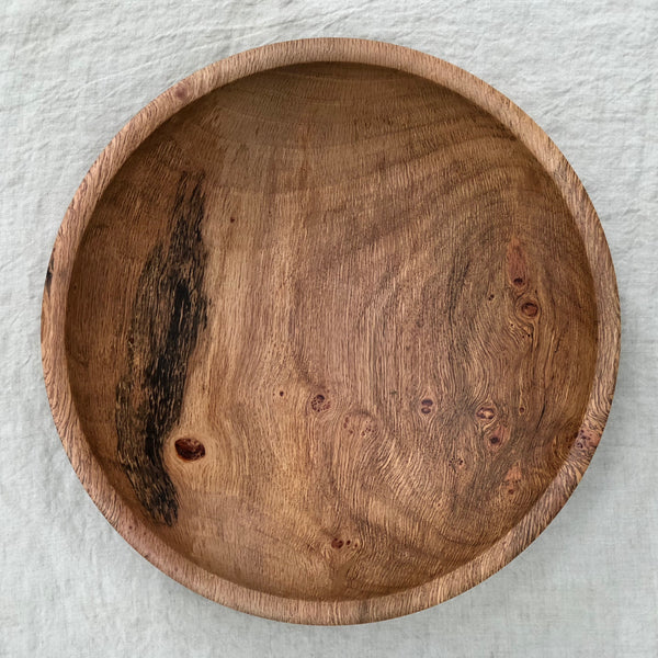 LIVE OAK WOODEN BOWL 12""